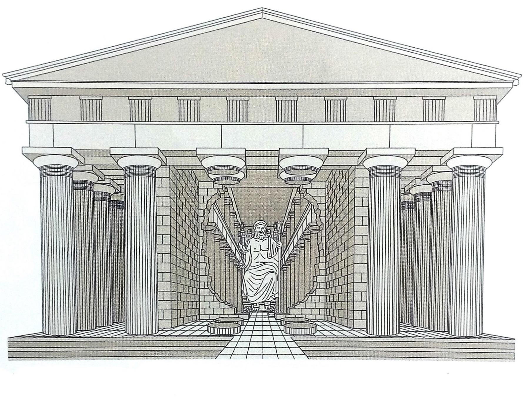 Zeus Architettura D Interni.Il Tempio Di Zeus A Olimpia Scheda Di Lettura Dell Opera